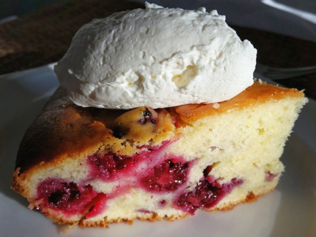 Blackberry-Lemon Sour Cream Cake