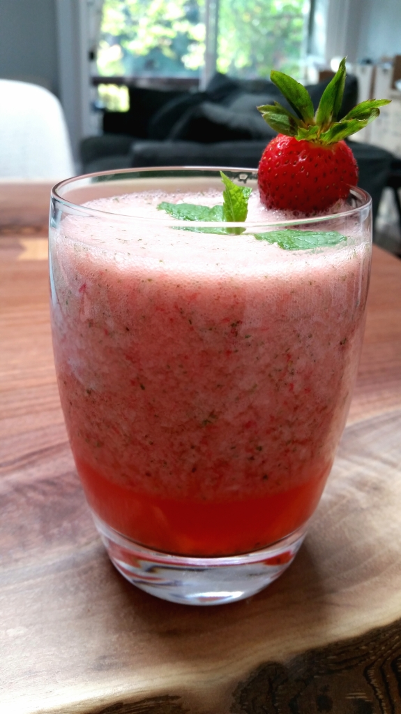 Strawberry Spearmint Coconut Cooler