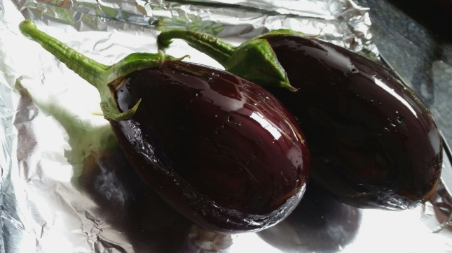eggplant ready to bake