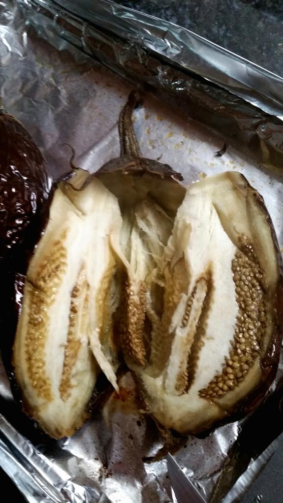 open eggplant