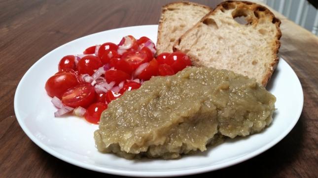 eggplant salad, separate